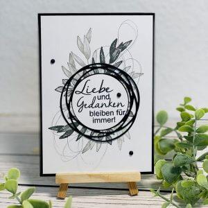 Trauerkarte Liebe und Gedanken