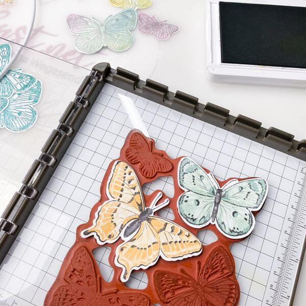 Schmetterlinge bestempeln