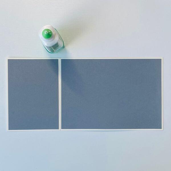 Farbkarton einkleben