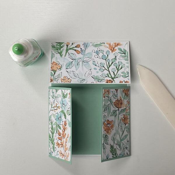 Designerpapier Zuschnitt außen