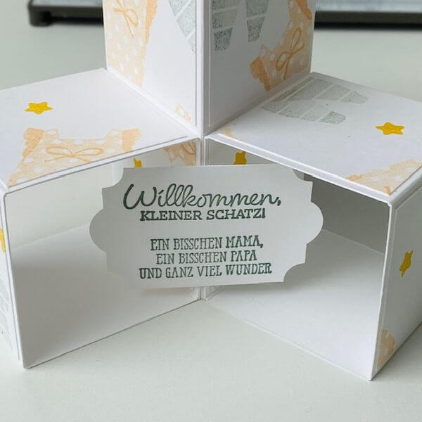 Spruch Triple PopUp Cube Card